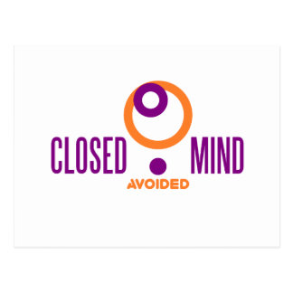 closed mind avoided postcard