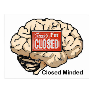 Closed Minded Post Cards