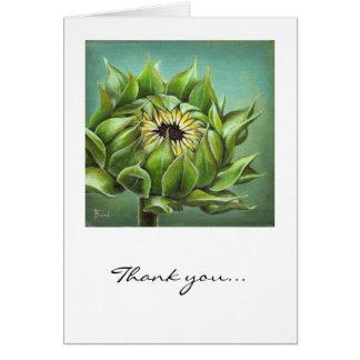 Closed sunflower card