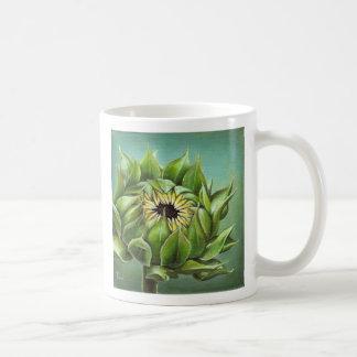 Closed sunflower coffee mug