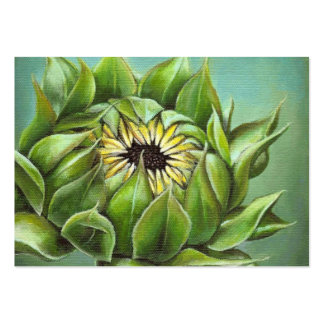 Closed sunflower large business card