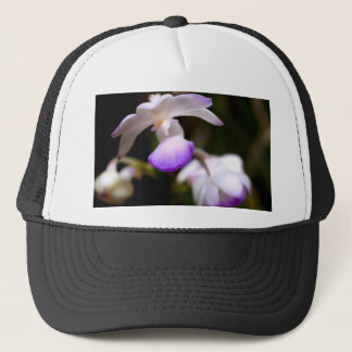 closed up  of Orchid Flower Trucker Hat