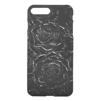 Closed-up one pink 3D black iPhone 7 Plus Case