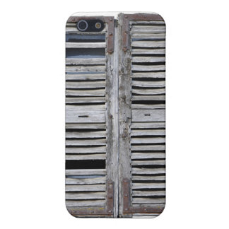 Closed window with old wood shutters cover for iPhone SE/5/5s