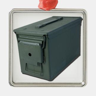 ClosedAmmoBox110814.png Adorno Navideño Cuadrado De Metal