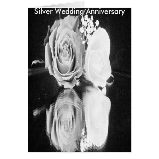 closer like lover black, Silver Wedding Anniver... Cards