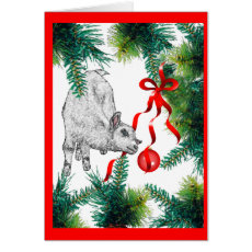 Closer Look Baby Goat Christmas Card