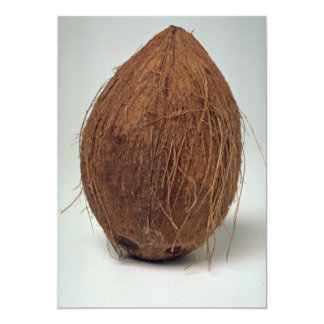 Closer view of Coconut shell Custom Invitation