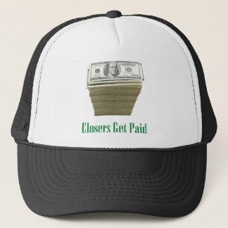 Closers Get Paid: Money Design Trucker Hat