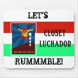 Closet Luchador Mouse Pad