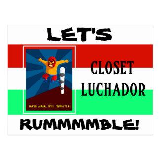 Closet Luchador Postcard