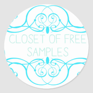 Closet of Free Samples Blue Line Classic Round Sticker