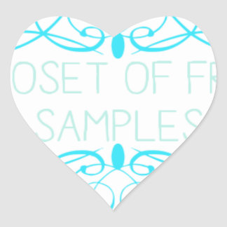 Closet of Free Samples Blue Line Heart Sticker