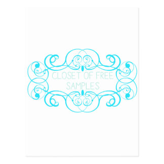 Closet of Free Samples Blue Line Postcard