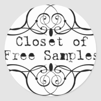 Closet of Free Samples Classic Round Sticker