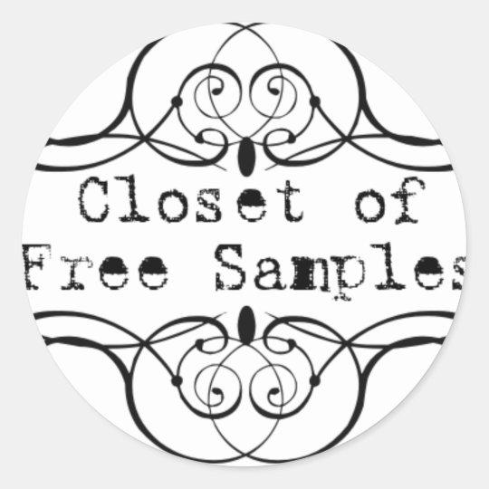 Closet of Free Samples Classic Round Sticker