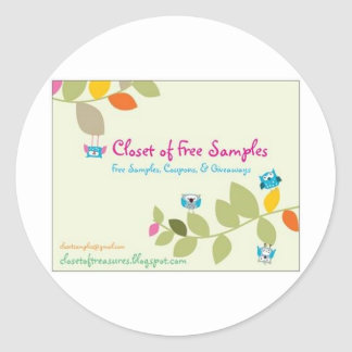 Closet of Free Samples Green Designs Classic Round Sticker