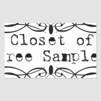 Closet of Free Samples Rectangular Sticker