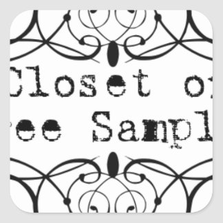 Closet of Free Samples Square Sticker
