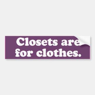 Closets are for clothes -.png car bumper sticker