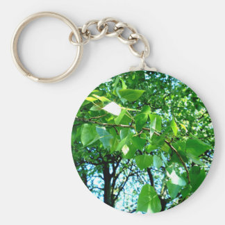 Closeup and Leafy Basic Round Button Keychain