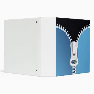 Closeup Blue Zipper 3 Ring Binder