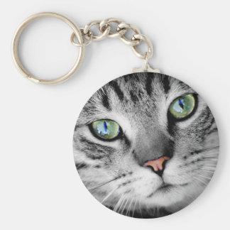 Closeup Cat Keychain