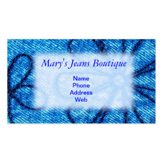 Closeup Denim Fabric for Jeans Store Double-Sided Standard Business Cards (Pack Of 100)