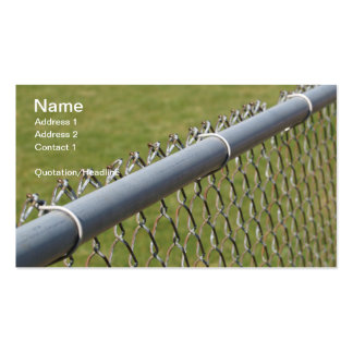 closeup detail of a metal chain link fence Double-Sided standard business cards (Pack of 100)