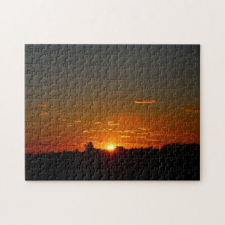 Closeup Early Morning Sunrise and Sky Summer 2016 Jigsaw Puzzle