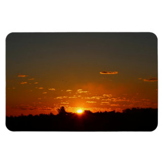 Closeup Early Morning Sunrise and Sky Summer 2016 Magnet