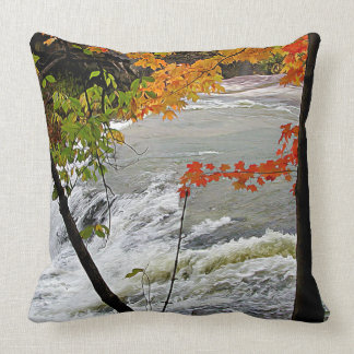 Closeup Falls in Fall Throw Pillow