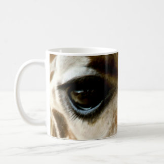Closeup Giraffe Face Wild Animals Nature Photo Coffee Mug