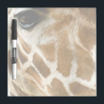 "Closeup Giraffe Face Wild Animals Nature Photo Dry-Erase Board<br><div class=""desc"">Wildlife photography dry erase board for giraffe lovers- Close up photo of cute giraffe face and eyes showcases the soulful eyes and trendy genuine fur giraffe pattern. In browns and golds of course. African Giraffa camelopardalis picture. Adorable wild animals gift for animal lovers, zoologists, veterinarians, nature photo buffs, and of...</div>"