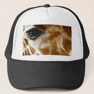 Closeup Giraffe Face Wild Animals Nature Photo Trucker Hat