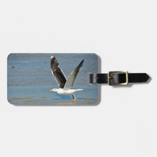 Closeup Great Black-backed Gull in flight Bag Tags