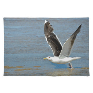 Closeup Great Black-backed Gull in flight Placemats