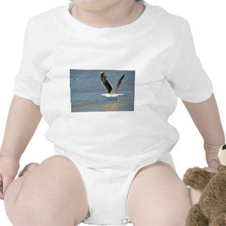 Closeup Great Black-backed Gull in flight Bodysuit