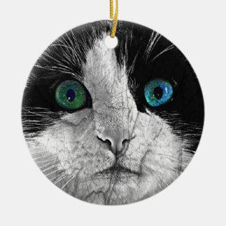 Closeup Kitty Cat Face Ornament