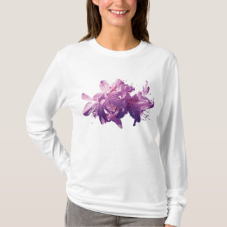 Closeup Light Magenta Azaleas Ladies T-Shirt