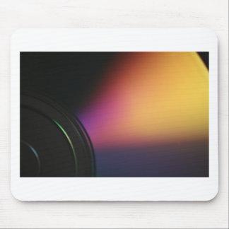 Closeup macro photo of shiny underside CD dvd disk Mouse Pad