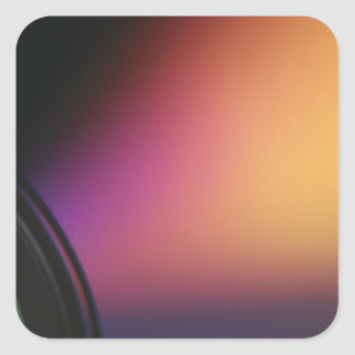Closeup macro photo of shiny underside CD dvd disk