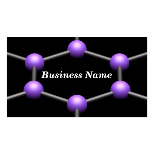 Closeup of a 3D Molecular Structure (Purple) Double-Sided Standard Business Cards (Pack Of 100)