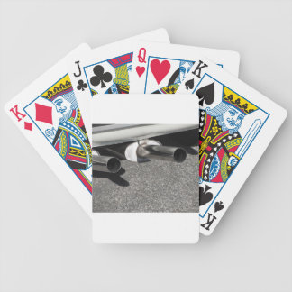Closeup of a classic car exhaust pipe  Double pipe Bicycle Playing Cards