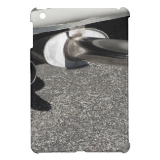 Closeup of a classic car exhaust pipe  Double pipe iPad Mini Cover