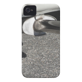 Closeup of a classic car exhaust pipe  Double pipe iPhone 4 Case-Mate Case