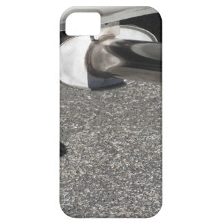 Closeup of a classic car exhaust pipe  Double pipe iPhone SE/5/5s Case