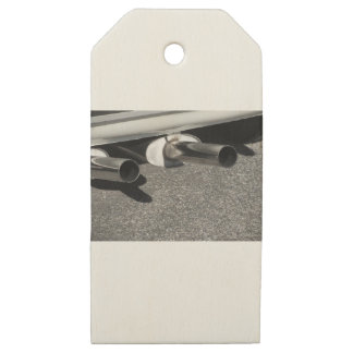 Closeup of a classic car exhaust pipe  Double pipe Wooden Gift Tags