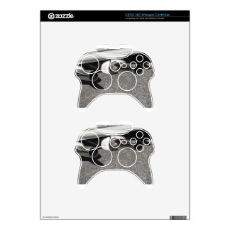 Closeup of a classic car exhaust pipe  Double pipe Xbox 360 Controller Decal
