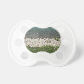 Closeup of a crystal clear alpine lake pacifier